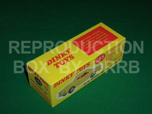 Dinky #185 Alfa Romeo 1800 - Reproduction Box ( Yellow )